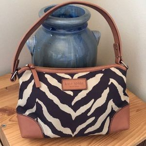 Kate Spade Medium Gilly Bandipur Zebra Hobo Bag